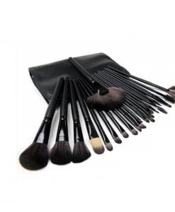 Make-up kwasten set 24 delig zwart