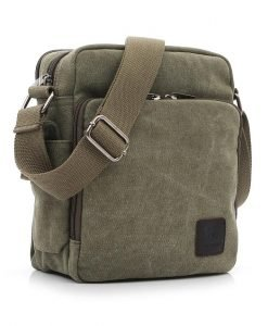 Canvas Messenger tas groen