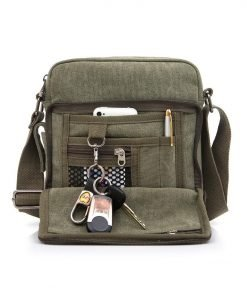 Canvas Messenger tas groen open